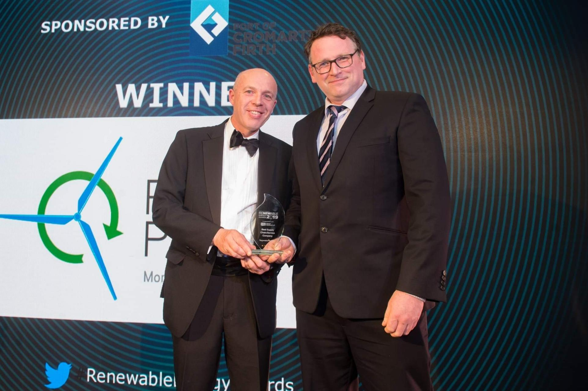 Winners Best Supply Chain Company - Highlands & Islands Renewable Energy Awards!