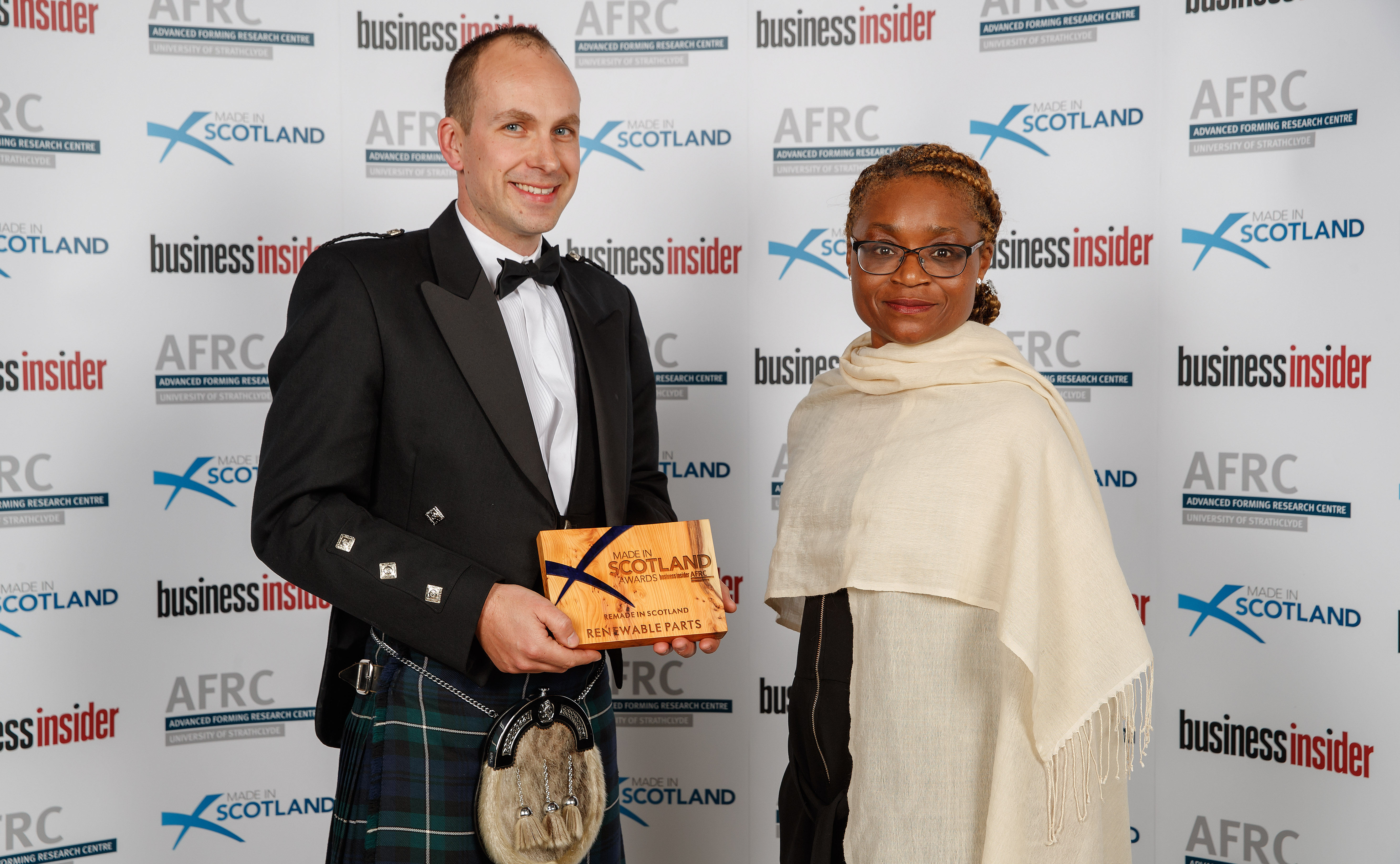 "Scottish Institute for Remanufacture ""Renewable Parts Ltd win Remade in Scotland Award"""
